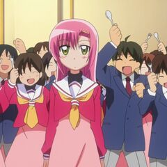Hinagiku at the start of her 16th birthday at Hakuo Academy