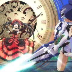 Kurumi being confronted by Mana (Anime)