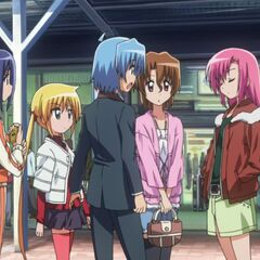 Hinagiku reminding Hayate about White Day