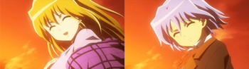 Hayate and Yukariko's similar appearances