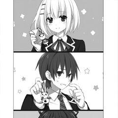 Shido having the same panda chain as Origami and Tohka