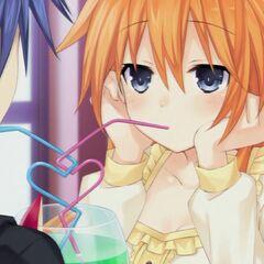Yuzuru with Shido on their date