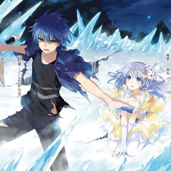 Shido protecting Miku from an attack caused by Tohka's Inverse Form, fulfilling his promise to her that he will protect her