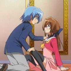 Hayate accidentally falling on Maria