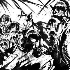 Kurumi unleashing her clones (Light Novel)