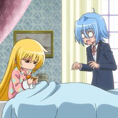 Hayate surprised that Nagi changed the time about hours early