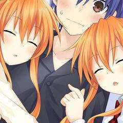 Shido waking up to find Kaguya and Yuzuru sleeping beside him