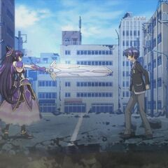 Shido meeting Tohka for the first time