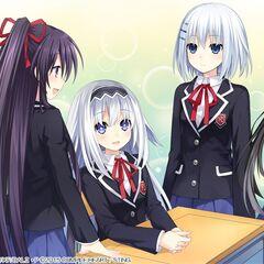 Tohka with Rinne, Maria, Origami and Kurumi