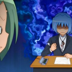 Hayate, about to lose his focus and patience during an exam from Yukiji