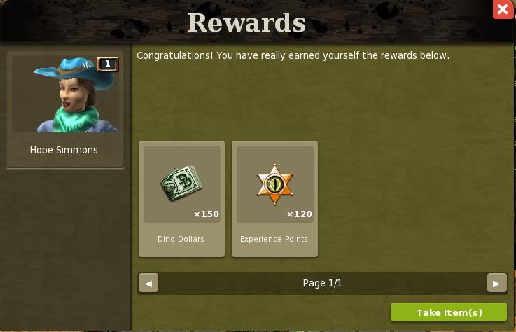 First quest - reward