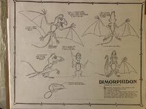 Land Before Time Dimorphodon model sheet