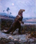 Iguanodon by zdenek burian 1950