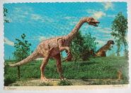 Dinosaur Land Theme Park Postcard Oviraptor 1969 Photo Front Royal Virginia