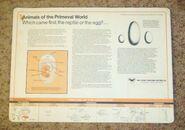 Primeval World Dino egg card back