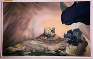 LAND BEFORE TIME Color Key Concept DON BLUTH Production cel Art CERA Animation