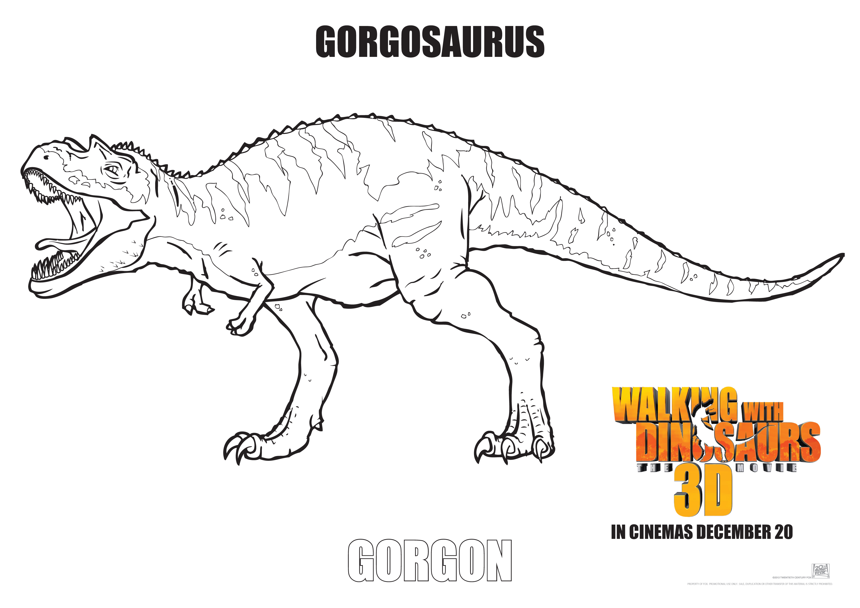 Walking With Dinosaurs Colouring Pages 4