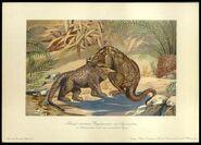 F John Series 1 Megalosaurus and Iguanodon card 15
