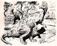 Corythosaurus by zdenek burian 1948