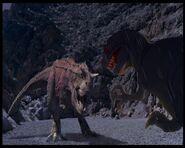 Fantasia T-rex vs. Dinosaur Carnotaurus