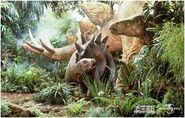 Stegosaurus mum and baby
