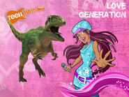 Isabel e il giganotosauro