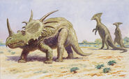 Both-the-styracosaurus-right-charles-r-knight