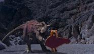 Prince Derek vs. Dinosaur Carnotaurus