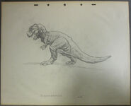 Drawing of T-rex 8