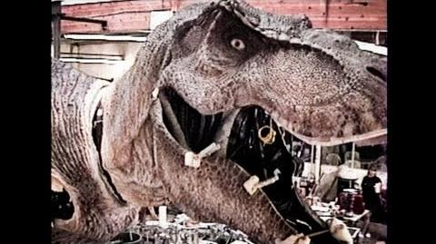JURASSIC PARK - T-Rex - Skinning an Animatronic Dinosaur Part 2 - BEHIND-THE-SCENES