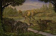 Parasaurolophus lambeosaurus magnicristatus by abelov2014-d9f636e