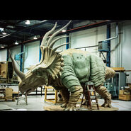 Walt Disney Imagineering Animal Kingdom Styracosaurus Dinosaur Production