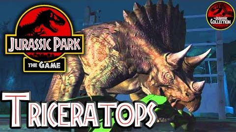 Jurassic Park The Game TRICERATOPS Behind the Scenes