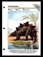Wildlife fact file Stegosaurus front