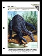 Wildlife fact file Baryonyx front