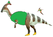 Peter Pan the Parasaurolophus