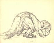 Drawing of T-rex 4