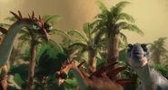Ice age kentrosaurus