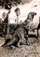 Iguanodon by zdenek burian 1941