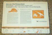 Primeval World T-Rex and Stegosaurus card back