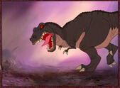 The Land Before Time Sharp Tooth Studio Color Model Cel Setup