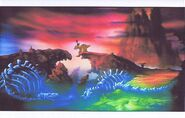 Land Before Time Original Production CERA & PETRIE Cel & Copy Bkgd -A037