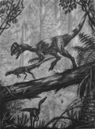 Dilophosaurus by abelov2014-d9z8gmr