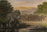 Sinoceratops homalocephale saurolophus by abelov2014-da63frz