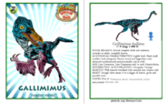 Dinosaur train gallimimus card revised by vespisaurus-db72p30