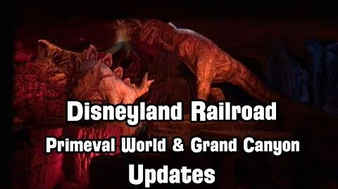 Disneyland Railroad's New Primeval World and Grand Canyon Updates Look Great!