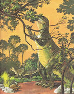 Vintage Color Print of the Iguanodon Dinosaur