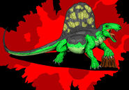 Jurassic park dimetrodon new art by hellraptor-d1u3spx
