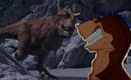 Dinosaur crossover Rex vs Carnotaurus