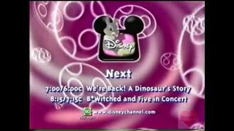 Disney Channel Bumper 1998 We're Back A Dinosaurs Story